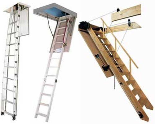 Выдвижная чердачная лестница: делаем сами!