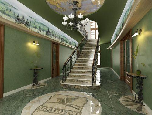 Дизайн лестницы в интерьере коттеджа