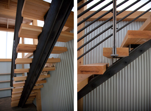 Лестница на одной балке