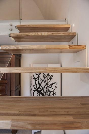 Лестница с использованием стекла