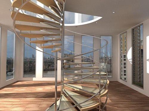 перила для лестниц в стиле хай тек