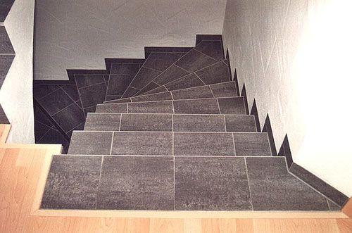 Облицовка бетонных лестниц плиткой