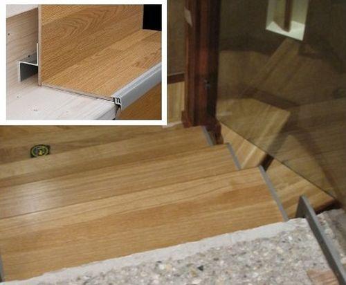 Отделка бетонных лестниц ламинатом или камнем