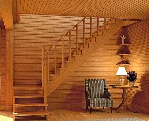 Лестница деревянная поворотная своими руками