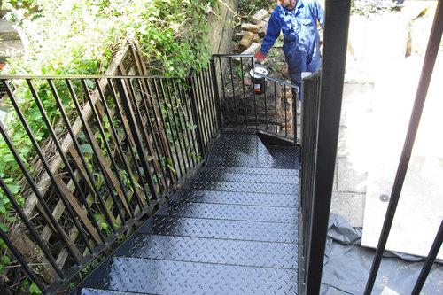 Самодельная уличная лестница