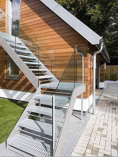 Уличные лестницы для дома своими руками 33