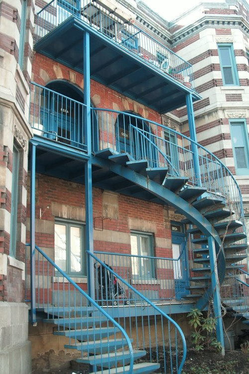 Необычная уличная лестница