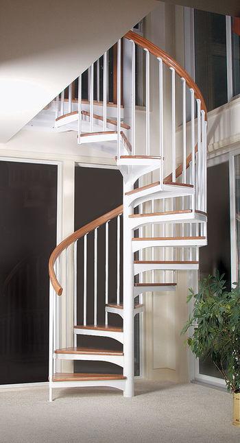 Винтовая лестница в сборе