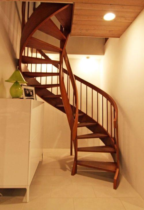 Деревянные винтовые лестницы в интерьере