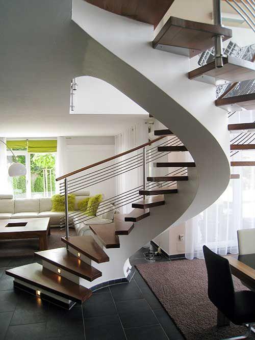 Бетонная винтовая лестница