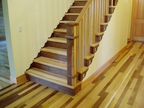Контрастный декор лестницы