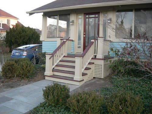 Лестница из бетона на крыльцо дома
