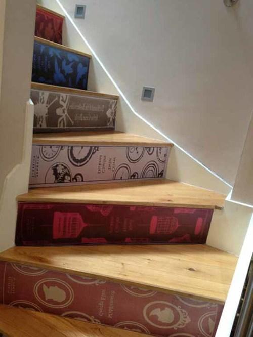 С декорированными ступенями