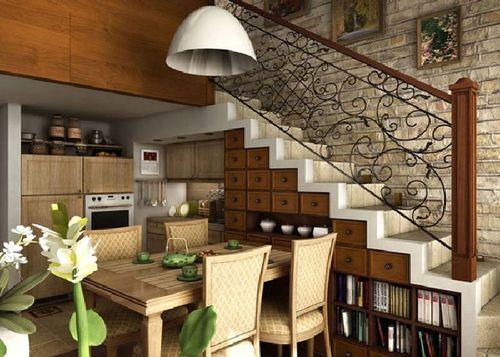 Лестница на второй этаж на косоурах своими