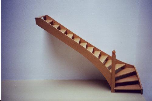 Расчет забежной лестницы с поворотом