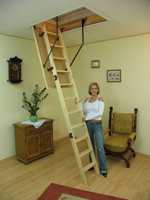 Складные лестницы на второй этаж