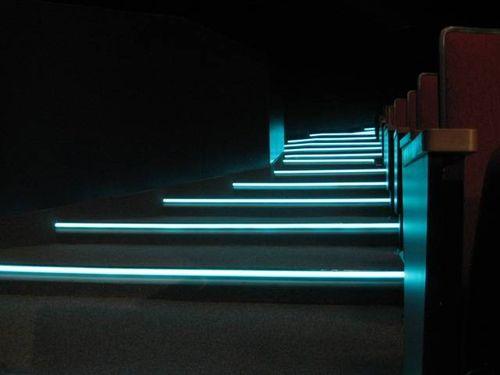 Подсветка бирюзового цвета