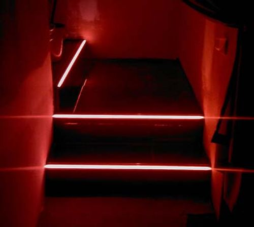 Подсветка красного цвета