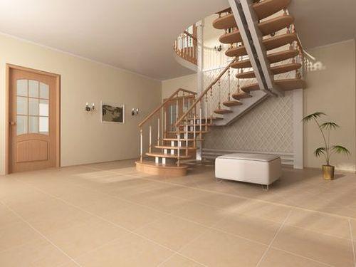 Трехмаршевая лестница в частом доме