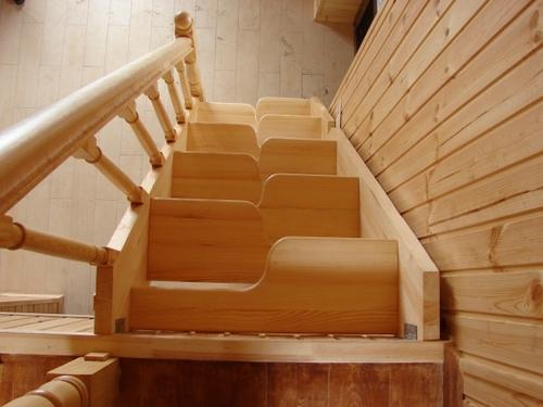 Лестница на второй этаж гусиный шаг своими руками
