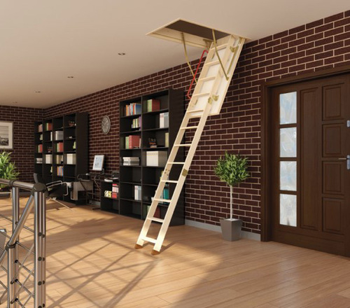 Благодаря своему дизайну лестница впишется в любой интерьер