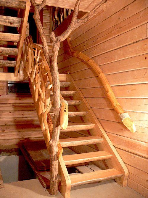 Как установить балясины и перила на деревянную лестницу