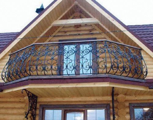 Перила на балкон: фото идеи