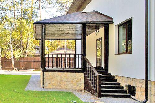 Дизайн крыльцо у дома