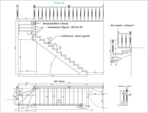 Программу для чертежей лестниц