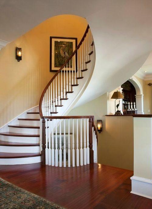 Фото лестниц на второй этаж в частном доме 24 фотография