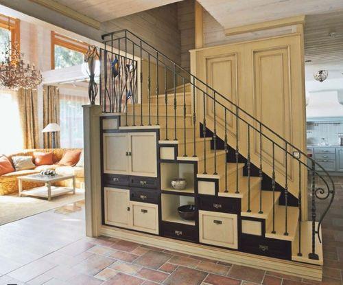 интерьер лестницы на второй этаж фото