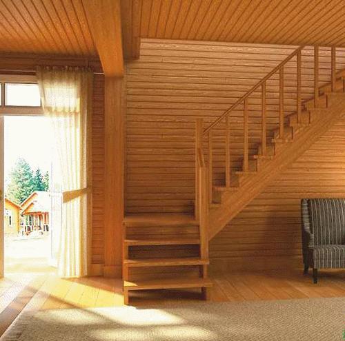 Лестница на второй этаж в доме своими руками