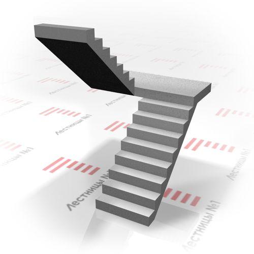 Как сделать двухмаршевую лестница с площадкой