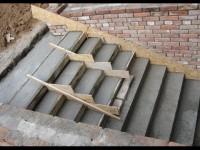 Как осуществляется бетонирование лестницы
