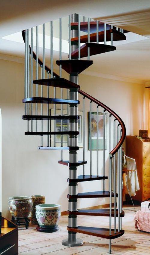 Какая конструкция у винтовой лестницы