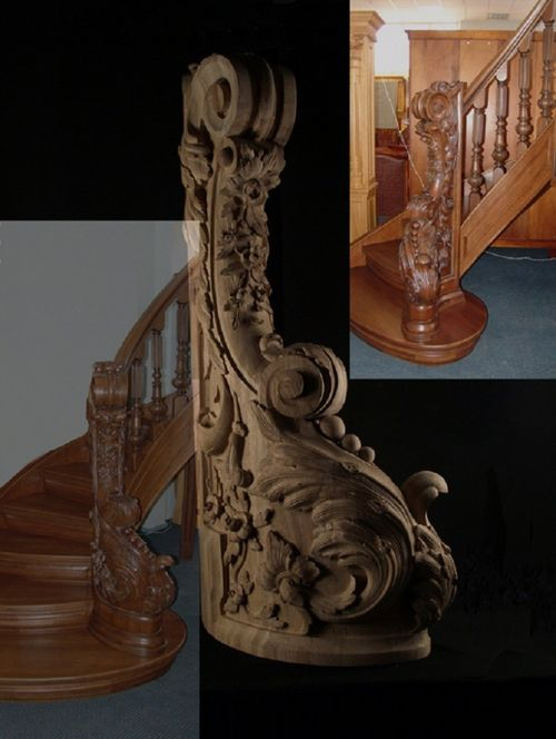 Какими бывают резные столбы для лестниц