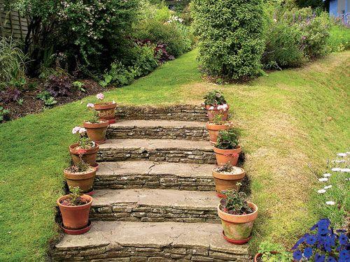 Как сделать садовую лестницу на даче