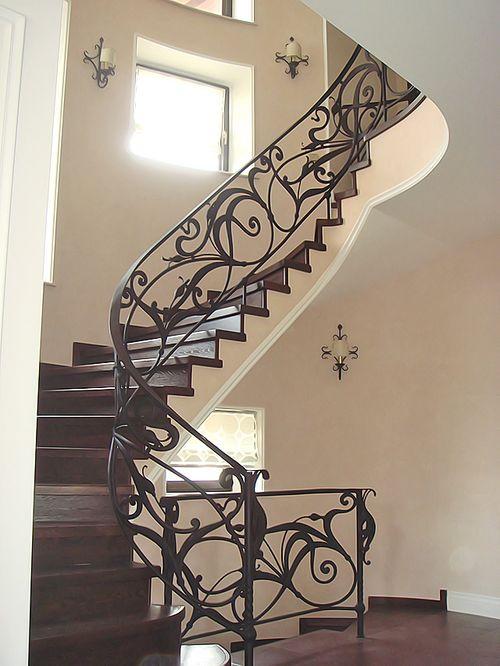 Художественная ковка лестницы