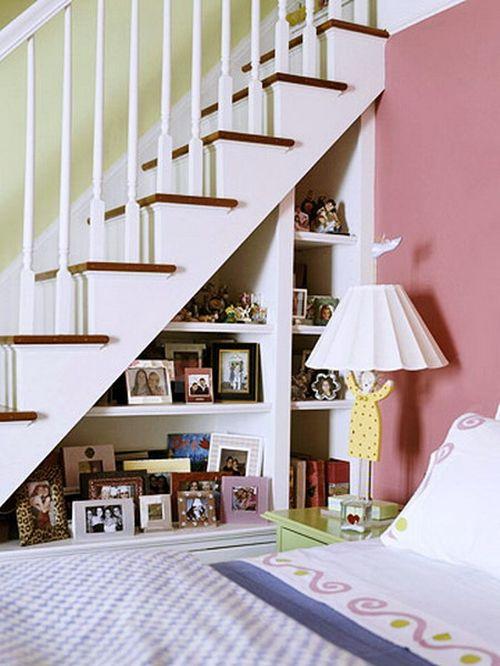 Идеи как использовать пространство под лестнице