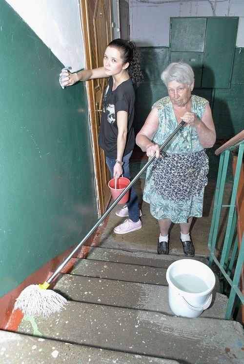 Уборка лестничных клеток в жилых домах