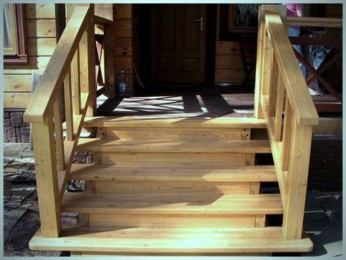 Как сделать входную лестницу своими руками