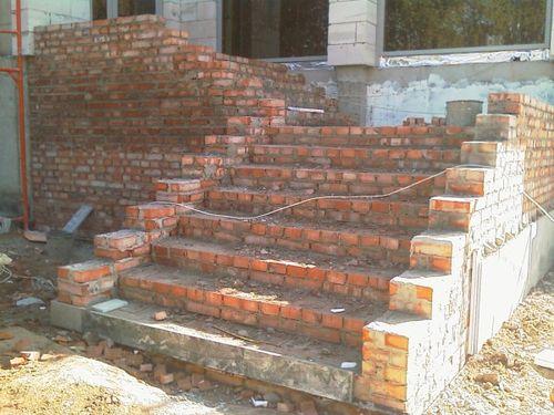 Лестница из кирпича своими руками в доме 1