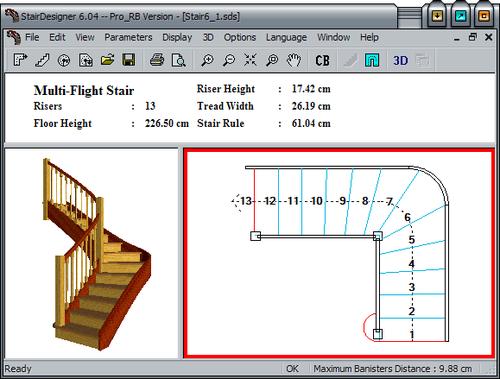 Как проектируются лестница в программе?