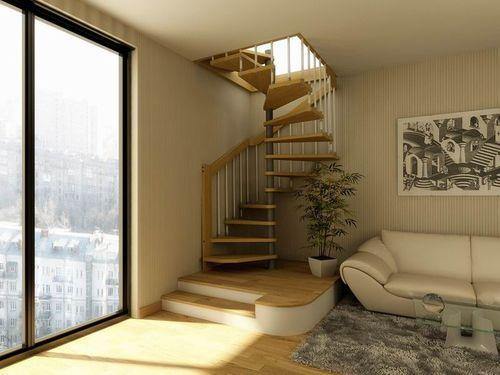 Все про спиральные лестницы в интерьере