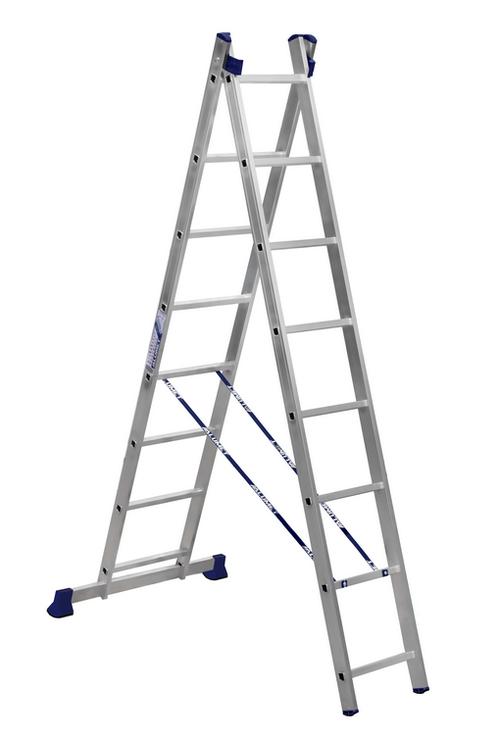 Какие бывают двухсекционные лестницы: советы по выбору
