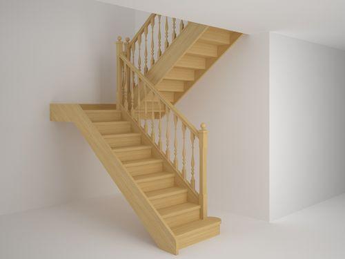 Инструкция как сделать лестницу г-образной с площадкой