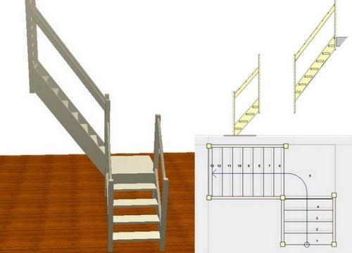 Г г-образная лестница на второй этаж своими руками 37