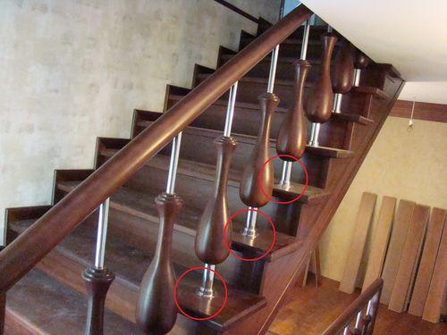 Особенности установки деревянных балясин на лестницы