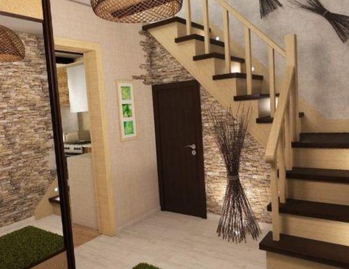Современные идеи дизайна прихожей с лестницей