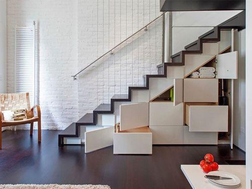 Какие бывают скрытые лестницы на второй этаж в доме